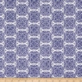 Fruitful Pleasures Damask Navy
