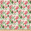 Riley Blake Merry And Bright Ornaments Cream