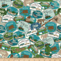 Riley Blake Gone Camping Patches Teal