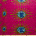 Supreme Basin African Wax Print 6 Yards Red Sun