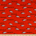 NFL Cotton Broadcloth Denver Broncos Mini Orange