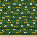 NFL Cotton Broadcloth Green Bay Packers Mini Green
