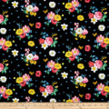 Afternoon Picnic Floral Black