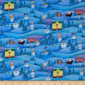 A Quilter's Christmas Snowman Village Blue