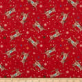 A Quilter's Christmas Reindeer Red