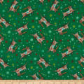 A Quilter's Christmas Reindeer Green