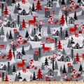 Kanvas Noel Forest Noel Forest Scenic Gray/Red