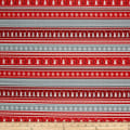 Kanvas Noel Forest Nordic Stripe Gray/Red
