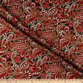 Benartex Cat-I-tude Christmas Paisley Tonal Swirl Red