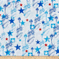Kanvas Star Spangled Lady Liberty White
