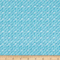 Kanvas Palermo Herringbone Tile Teal/Gray