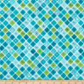 Contempo Fandangle Sparkling Squares Teal/Multi
