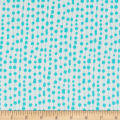 Contempo Fandangle Beaded Curtain Turquoise/White