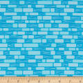 Contempo Free Motion Fantasy Bricks Sky Blue