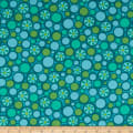 Contempo Free Motion Fantasy Pebbles Teal