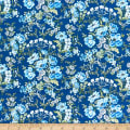 Benartex Gabrielle Bouquet Flowers Blue