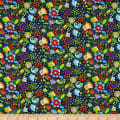 Benartex Awaken the Day Folky Floral Blue/Multi
