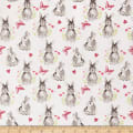 Novelty Pretty Bunnies White