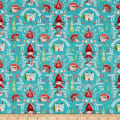 Little Red In The Woods Damask Teal