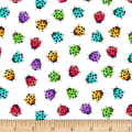 Blank Quilting Bugs Galore! Ladybugs White