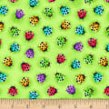 Blank Quilting Bugs Galore! Ladybugs Green
