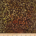 River Falls Brown Triangles Batik Brown
