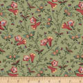 Meridian Stars Spring Floral Green