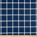 Premier Prints Modern Farmhouse Abbot Windowpane Slub Canvas Italian Denim