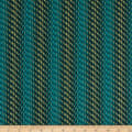 Clothworks Around the Roses Stripe Teal