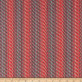 Clothworks Around the Roses Stripe Coral