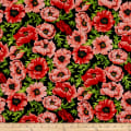 Clothworks Poppy Poetry Toss Coral