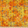 Anthology Batiks Celebration Daisy Yellow