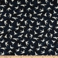 Anthology Fabrics Number 20, 1950 Art Inspired Batik Birds Ink
