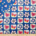 Plush Fleece 2 Sided Flower Heart Dresden