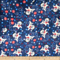 Plush Fleece 2 Sided Dog/Ball/Star Blue