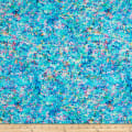 QT Fabrics Evolution Radiance Textured Abstract Blue