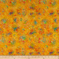 QT Fabrics Evolution Radiance Splatter Orange