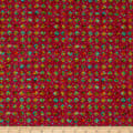 QT Fabrics Evolution Rhythm Diamonds Azalea