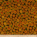 QT Fabrics  Autumn Bounty Sunflowers Black