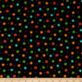 QT Fabrics  Fly Free Dots Black