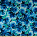 QT Fabrics Kenzie Abstract Blooms Indigo