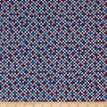 QT Fabrics Red White & Blue Check Navy/Red