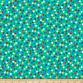 QT Fabrics Ink & Arrow Chilly Dogs Dots Green