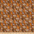 QT Fabrics Pheasant Fields Feathers Brown