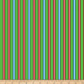QT Fabrics  Reindeer Antics Stripe Green