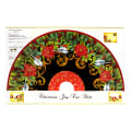 "Christmas Joy Tree Skirt 36"" Panel Black With Metallic"