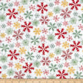 Yuletide Cheer Snowflakes White