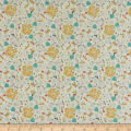 Andover/Makower UK A Walk in the Park Flowers Cream