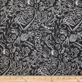 Trans-Pacific Textiles Hawaiian Graffiti Black