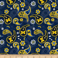 NCAA Michigan Wolverines Paisley Cotton